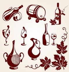 set of vine elements vector image
