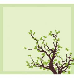 spring tree corner vector image vector image