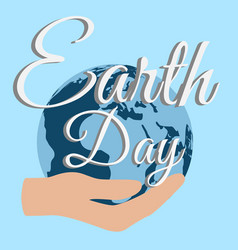 earth day planet care nature vector image