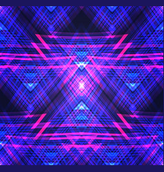 neon tribal seamless texture pattern with neon vector image vector image