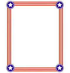 patriotic frame with usa flag vector image vector image