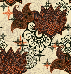 Seamless pattern with Indian ornaments vector image vector image
