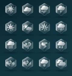 Weather Glass Icons and Symbols vector image