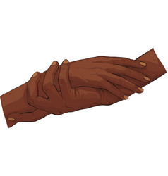 african people hand holding togtether vector image