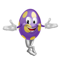 easter egg character vector image vector image