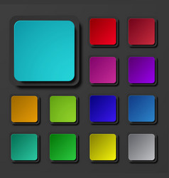 modern colorful square icons set vector image vector image