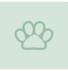 Pet shop logo with pet paw vector