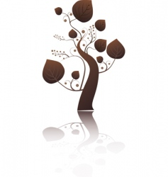 stylized tree with leaves vector image vector image