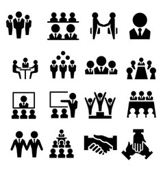 business team icon vector image vector image