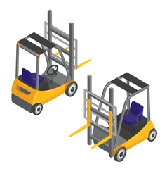 Forklift Transport Isometric Transportation Cargo vector image