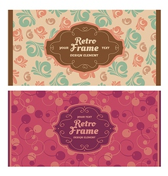 Frames in retro style vector image