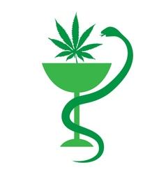 Medical Marijuana logo icon Medical cannabis vector image