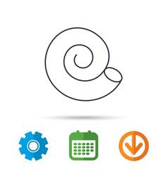 sea shell icon spiral seashell sign vector image