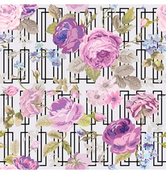 Spring flowers geometry background vector