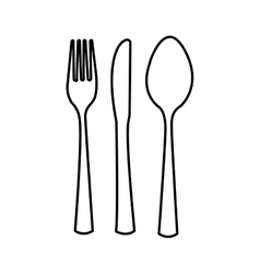 table cutlery isolated icon design vector image