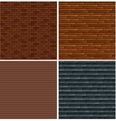 a set of brick wall background vector image