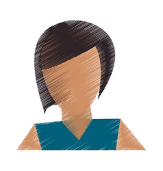 abstract faceless woman icon image vector image