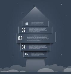 Arrow start up infographic options banner vector