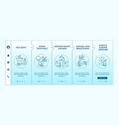 At-home spa routine onboarding template vector