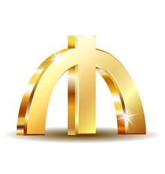 azerbaijani manat currency symbol golden money vector image