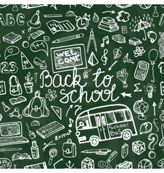 Back to School Supplies Sketchy chalkboard vector image