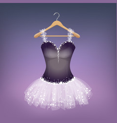 ballet dress on hanger vector image