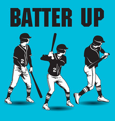 batter up baseball artwork vector image