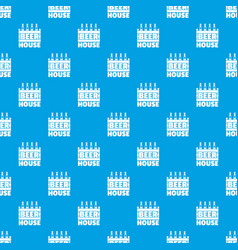 beer pattern seamless blue vector image