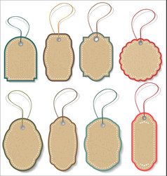 Blank hanging gift tags collection vector