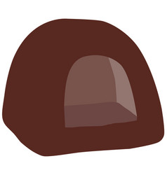 Brown cat house vector