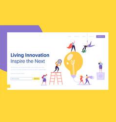 businessman lightbulb idea concept landing page vector image