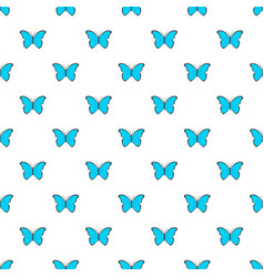 butterfly in nature pattern seamless vector image