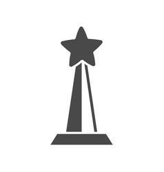 champion award with star icon vector image