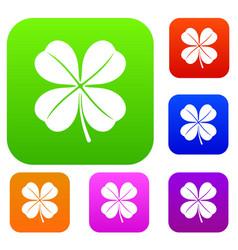 clover leaf set collection vector image vector image