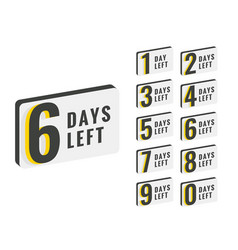 Days left countdown time banner design vector