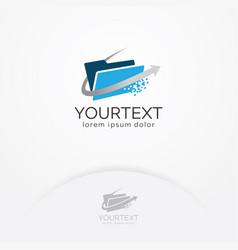 Digital folder logo vector