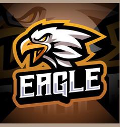 Eagle head esport mascot logo vector