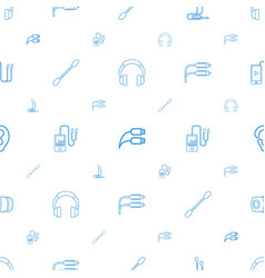 Ear icons pattern seamless white background vector