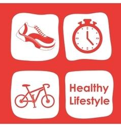 Fitness center design vector