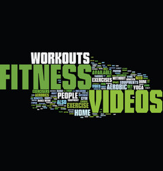 fitness text background word cloud concept vector image