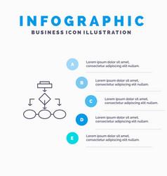 Flowchart algorithm business data architecture vector