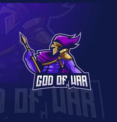 God war e-sport mascot logo design vector