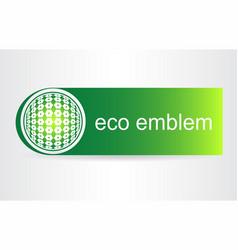 green eco icon vector image