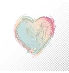 hand drawn watercolor heart vector image