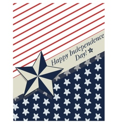 Happy Independence Day card vector image
