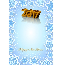 Happy New Year vertical blue background vector