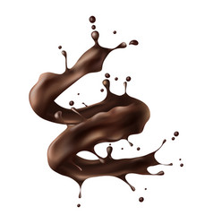 hot chocolate splash realistic vector image