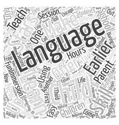 How to Learn Foreign Language by Training with vector image vector image
