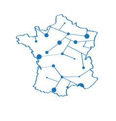 isolated map of france vector image