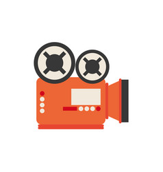 Isolated videocamera icon flat design vector